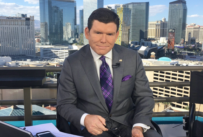 Bret covering the 2016 Presidential Debate in Las Vegas for Fox News Channel.